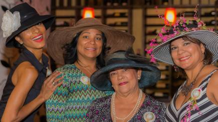 Hat party with sisters and mom