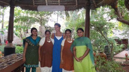 At the Ashram in India
