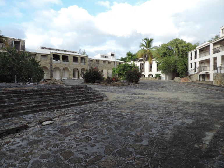 The ruins of La Belle Creole Resort