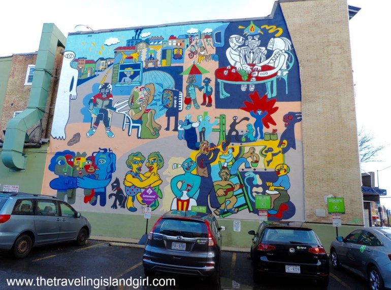 DC - abstract mural -