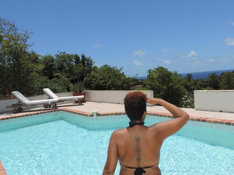 Pool days at Villa Blue Rock in St. Barth