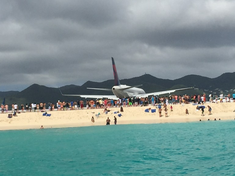 Get jet blasted at the St. Maarten airport