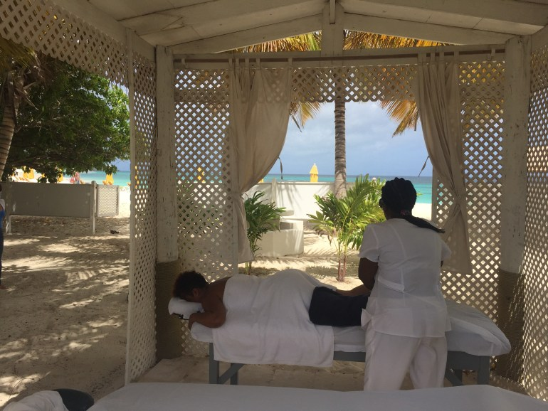 Massage on Shoal Bay Beach