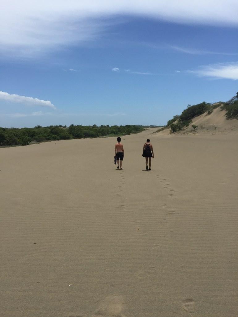 Hiking up the Dunas de Baní