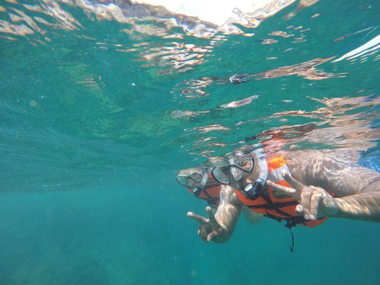 Snorkeling at Islas Mariettas