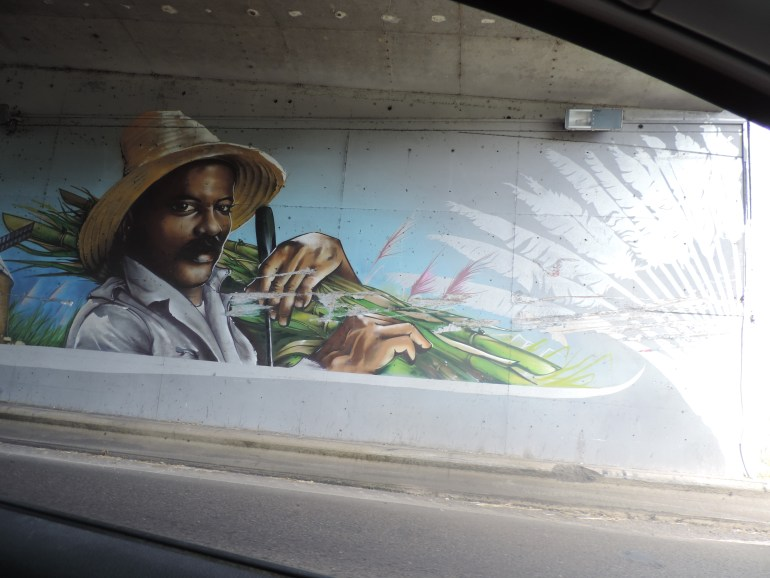 Underpass mural Guadeloupe