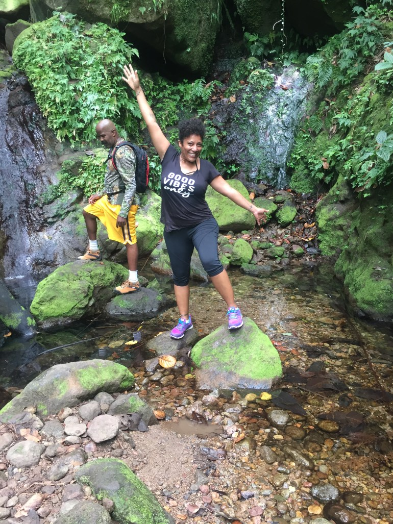Hiking up to Nevis' 6 waterfalls
