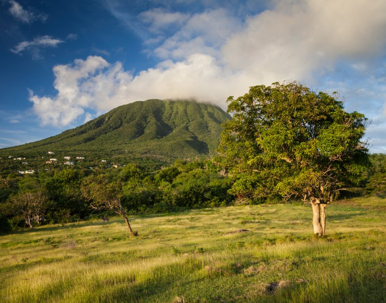 The island of Nevis