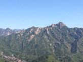 Mountains as seen from the Great Wall.