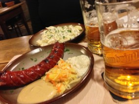 Sausages, mustard, beer... I am sensing a theme here in Eastern Europe.