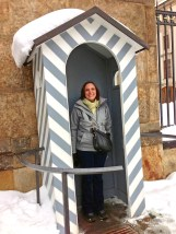 Not sure why, but the wife REALLY wanted me to take a photo of her standing in one of the guard stands at Prague Castle.