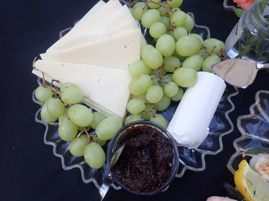 Aged Asiago, white grapes, goat chèvre and fig jam