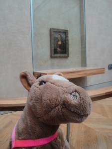 Teddy Bear had to make sure he got the best angles and lighting for his selfie with the Mona Lisa - Paris, France