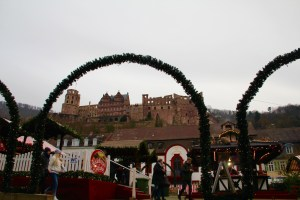 The Heidelberg castle overlooking the Christmas Markets - Heidelberg, Germany