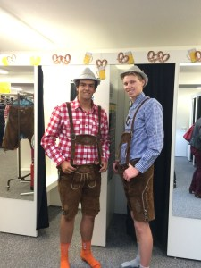 All ready for Oktoberfest in their Lederhosen!