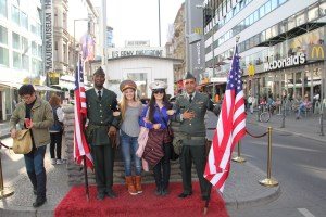 The American Soldiers at Checkpoint Charlie