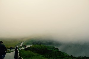 This is what the cliffs looked like when we first arrived - Cliffs of Moher, Ireland