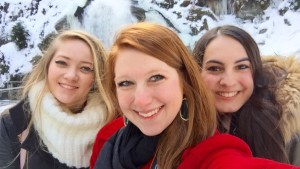 Laura, Hannah, and yours truly - Triberg, Germany