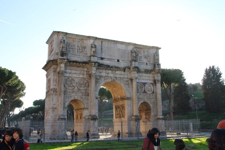 The Arch of Constantine by the Colosseum - Rome, Italy