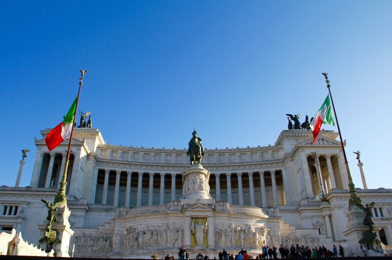 The Victor Emmanuel Statue - Rome, Italy