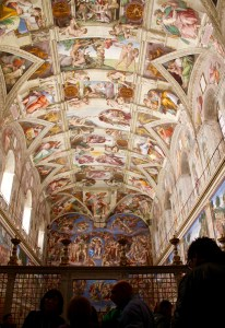 They said to not take pictures inside the Sistine Chapel. I present to you my picture of the Sistine Chapel - Vatican, Italy