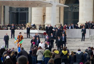 Pope Francis is wonderfully close with the followers of the Church, which must give his security detail a heart attack - Vatican, Italy