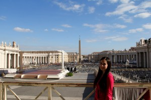 I was so fortunate and honored to be able to see the pope give a speech. It was a once-in-a-lifetime experience - Vatican, Italy