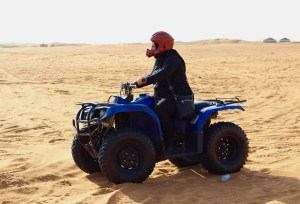 Mom had lots of fun four-wheeling out in the middle of the desert - Dubai, UAE