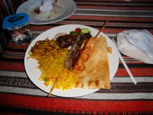 A traditional Arabian meal - Dubai, UAE