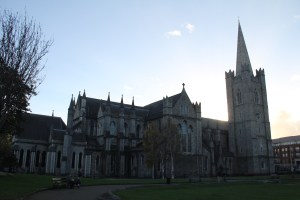 The outside of St. Patrick's Cathedral - Dublin, Ireland