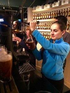 Pouring your own pint of Guinness is more difficult than it looks, but so delicious! - Dublin, Ireland