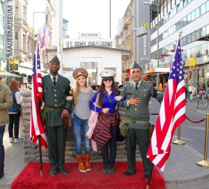 The soldiers at Checkpoint Charlie - Berlin, Germany