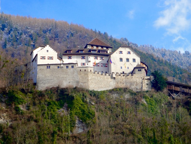 The castle Vaduz is not open to the public but hiking up to the castle is a very popular pastime for tourists - Vaduz, Liechtenstein