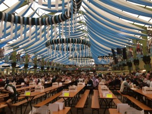 This is how empty a main tent is in the morning on a week day! - Munich, Germany
