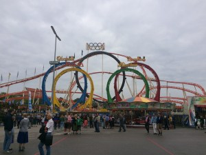 Oktoberfest has a roller coaster, but I wouldn't get on it after a few liters! - Munich, Germany
