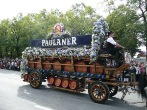 This Paulaner wagon represents one of the biggest breweries in Munich - Munich, Germany
