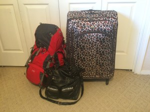 This might look like a lot, but it's everything I brought to live abroad for a year!