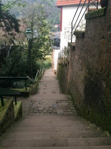Just one portion of the death stairs. It's a much cheaper alternative to get up to the castle - Heidelberg, Germany