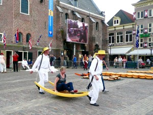One of the lucky people who got to ride on a pallet - Alkmaar, Netherlands