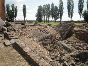 The collapsed ruins of the gas chambers from Auschwitz-Birkenau - Auschwitz, Poland