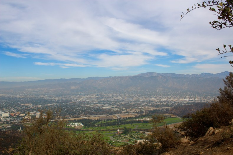 The view of Studio City from Mt. Lee. There isn't much to see, but it's still a pretty view - Hollywood, USA