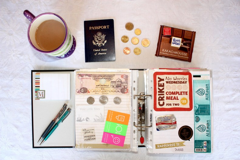 I created this fun scrapbook to help document all of the little things from my time abroad