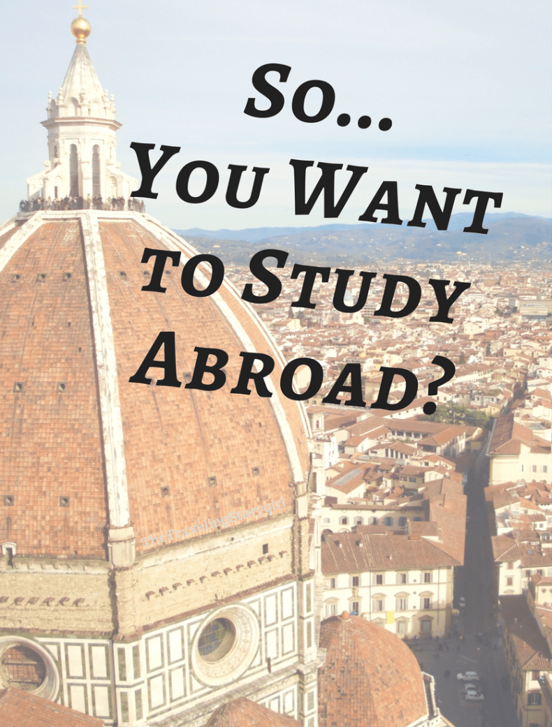So... You Want to Study Abroad? - The Traveling Storygirl