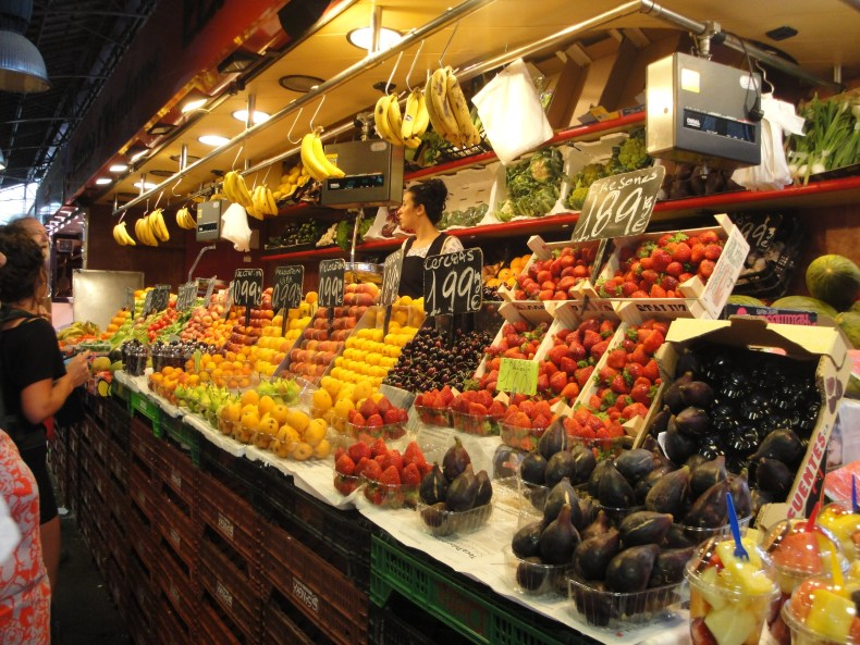 Just some of the amazing foods in La Boqueria