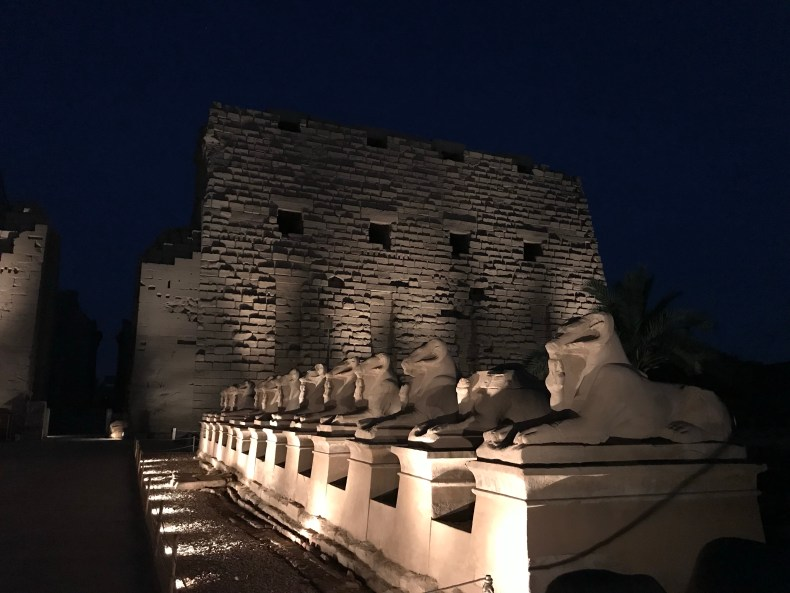 The lights of Karnak at night are magical