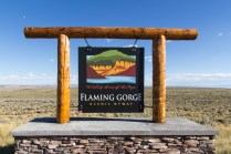 Flaming Gorge Overlook Sign