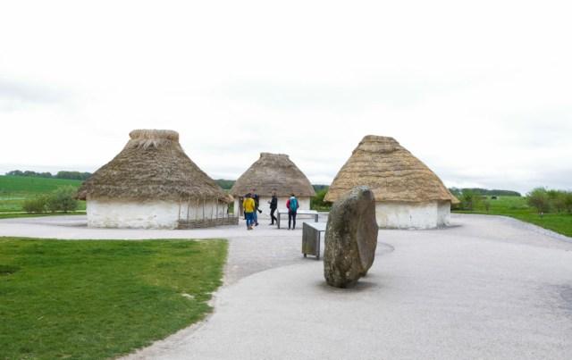 Exhibition at the Bus Terminal near Stonehenge - Scotland Wales London Itinerary BritRail Pass