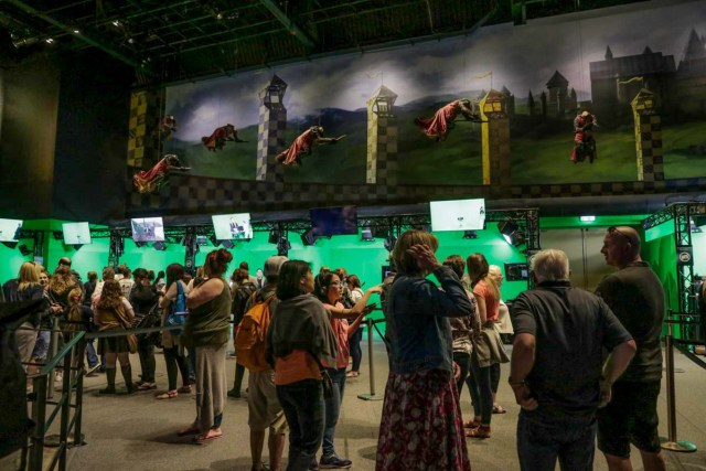 Interactive Green Screen Booths at the Warner Brothers Studio Harry Potter Tour in London - Scotland Wales London Itinerary BritRail Pass-2