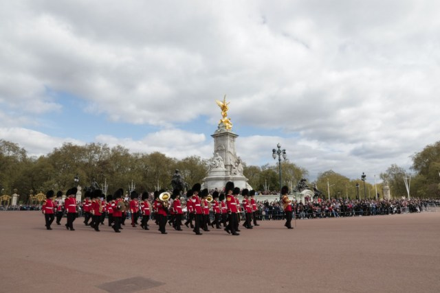Marching Band for Changing of Guards Ceremony at Buckingham Palace - Scotland Wales London Itinerary BritRail Pass