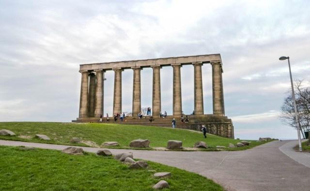 Pillars on Calton Hill - Scotland Wales London Itinerary BritRail Pass